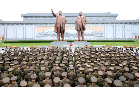 Cérémonie de l'armée nord-coréenne, le 15 août à Pyongyang.