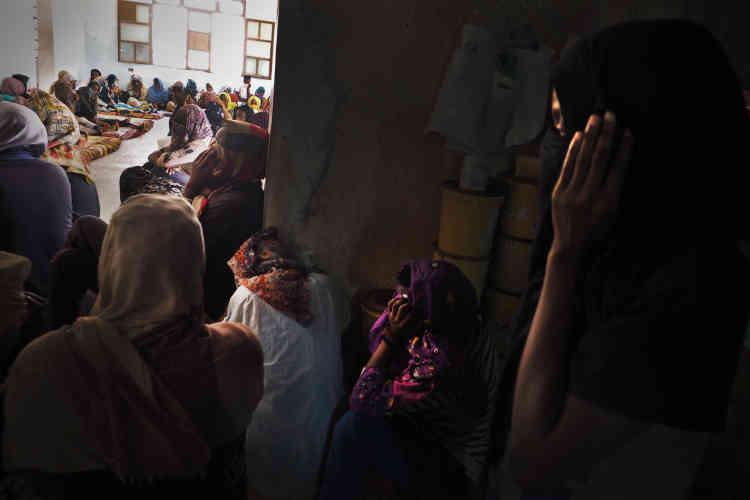 Dans le centre de détention pour migrantes de Sourman.