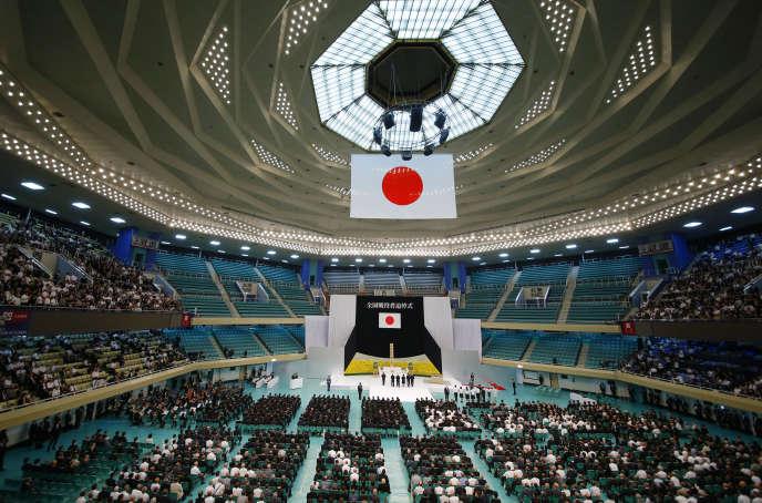 Cérémonie du souvenir à Tokyo, mardi15 août, pour marquer le soixante-douzième anniversaire de la capitulation japonaise.
