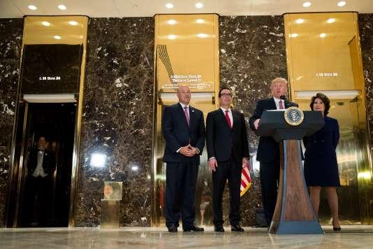 Le président des Etats-Unis, Donald Trump, le 15 août à la Trump Tower à New York.