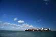 Un porte-conteneurs arrive dans le port de Southampton, le 21 mars 2017.
