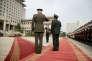 Joseph Dunford, chef d'état-major des armées des Etats-Unis,etFang Fenghui, général de l'armée de terre chinoise, à Pékin le 15 août.