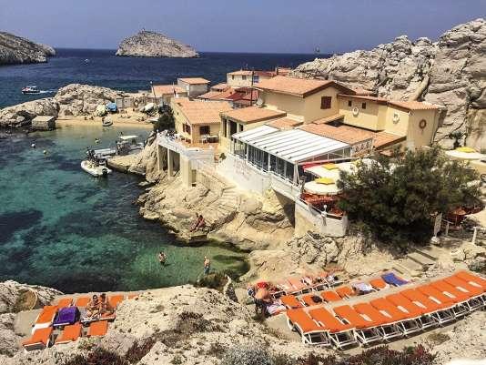 Le restaurant La Baie des singes au Cap Croisette, à Marseille.