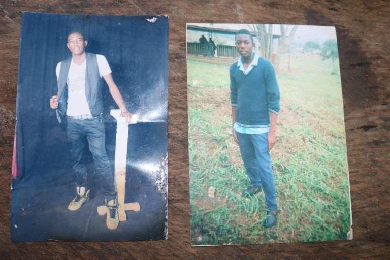 Photos d'Azah Levis Gob tirées de l'album familial. Sa mère le décrit comme«respectueux» et«toujours prêt à aider aux champs». Son père est décédé en août 2016, «de chagrin», estime la veuve.