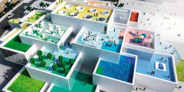 La Lego House ouvrira ses portes le 28 septembre à Billund (Danemark).