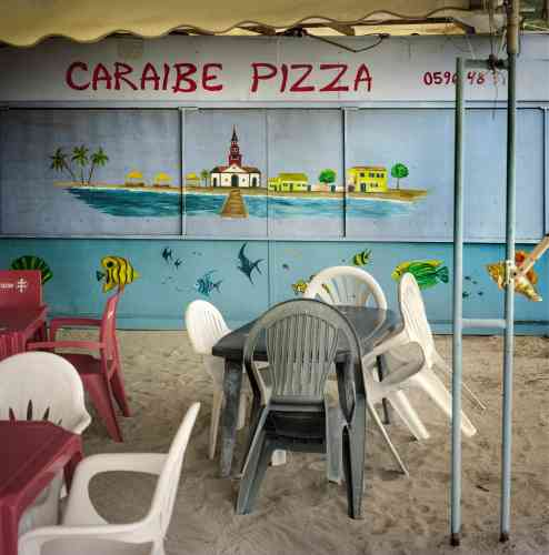 Le restaurant Caraibe Pizza aux Anses d'Arlet, un village de pêcheurs.