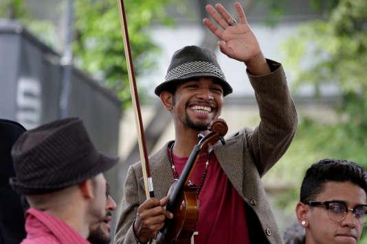Wuilly Arteaga lors d'un rassemblement contre le président Nicolas Maduro à Caracas, le 4juin.