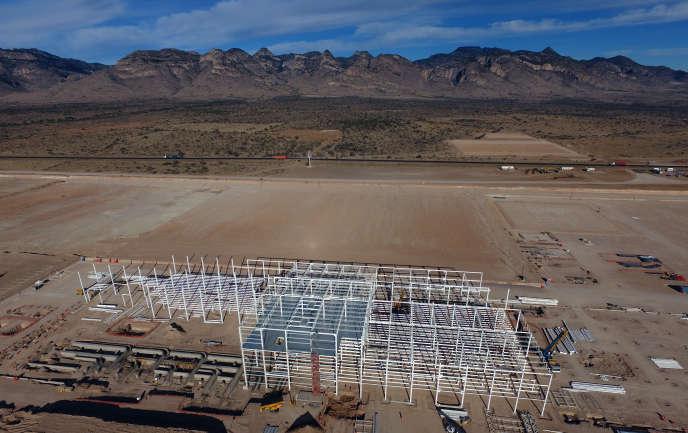 Le 11 janvier, le site abandonné de l'usinedont la construction fut lancée par Ford en 2016, à Villa de Reyes près de San Luis Potosi (Mexique).