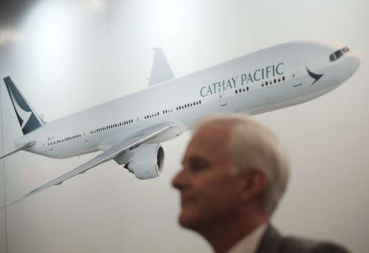 John Slosar, directeur général de Cathay Pacific, mercredi 16 août, à Hongkong.