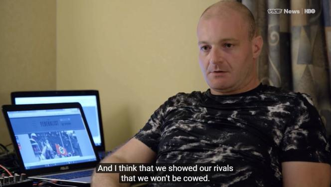 Christopher Cantwell dans le documentaire « Charlottesville: Race and Terror ».