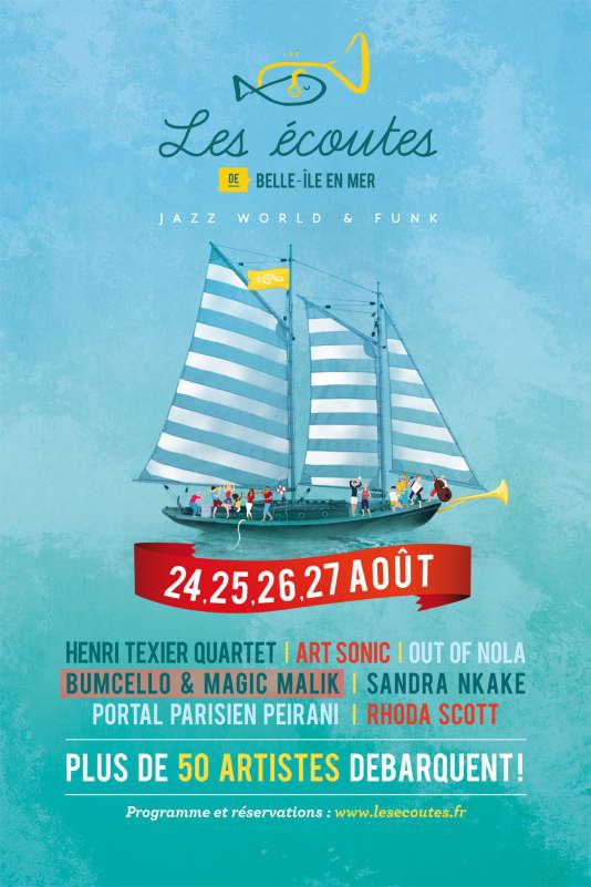 Affiche du festivalLes Ecoutes de Belle-Ile-en-Mer.