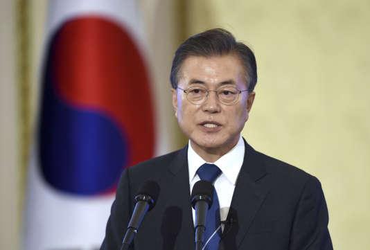 Le président sud-coréen Moon Jae-in, à Séoul le 17 août.