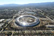 Photographie aérienne de l'Apple Park en construction, à Cupertino en Californie, le 13 janvier.