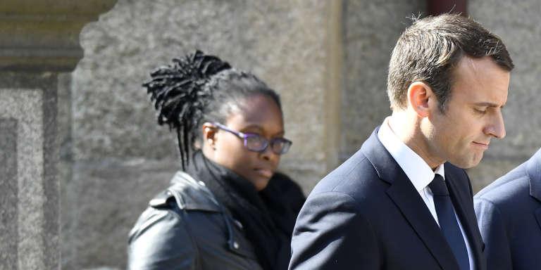 Le président français, Emmanuel Macron, et sa conseillère chargée des relations avec la presse, Sibeth Ndiaye.