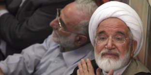Mehdi Karoubi, à Téhéran, en 2009.