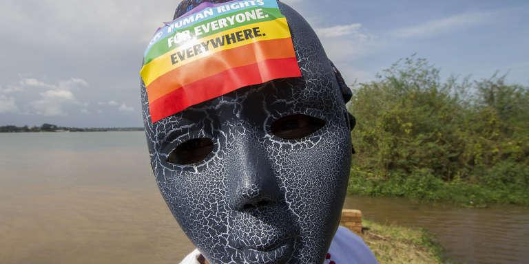 Lors d'une Gay Pride à Entebbe, en Ouganda, le 8août 2015.