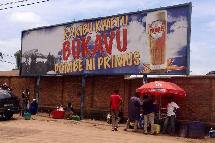 Primus, l'une des marques de la filiale congolaise de Heineken, ici à Bukavu, dans l'est de la RDC.