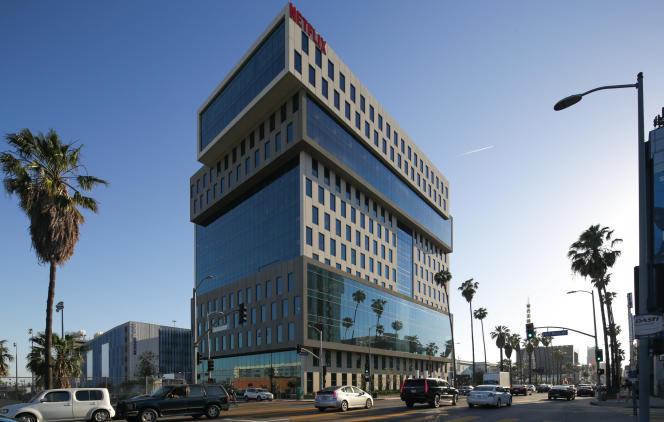 Le 1er mai 2017, à Los Angeles. Le bâtiment qu'occupe Netflix sur Sunset Boulevard.
