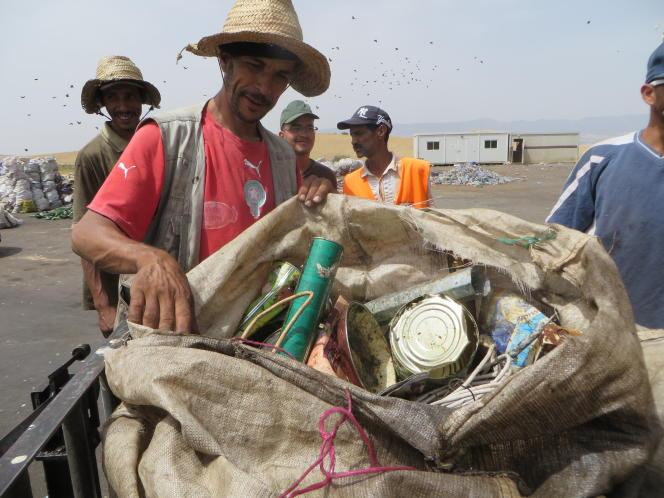 Le centre de tri et d'élimination des déchets de Suez, au nord de Meknès, au Maroc, le 5 juillet.
