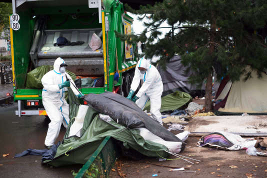 Il s'agit de la 35e évacuation en deux ans dans la capitale, ont affirmé les préfectures de police de Paris et d'Ile-de-France dans un communiqué, le 18 août.