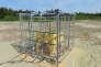 La cage d'expériences entourée d'un bobinage permettant de modifier le champ magnétique local
