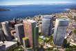 Une vue d'architecte des tours que fait bâtir Amazon dans le centre-ville de Seattle.