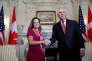 Le secrétaire d'Etat américain, Rex Tillerson, et la ministre des affaires étrangères canadienne,Chrystia Freeland, à Washington, le 16 août.