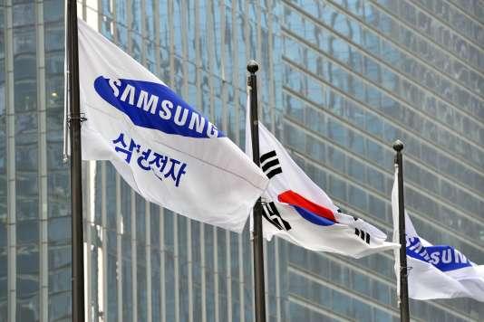 Devant le siège du géant de l'électronique Samsung, à Seoul, en 2013.