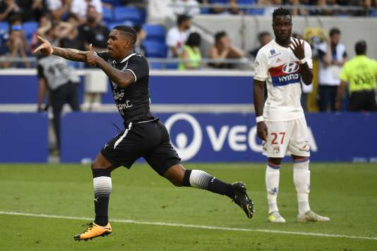 Le Bordelais Malcolm célèbre son but face à Lyon (3-3), samedi 19 août.