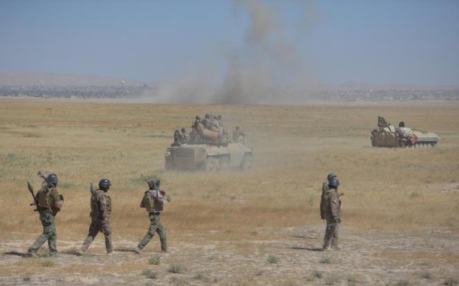 L'armée irakienne et des miliciens chiites regroupés au sein de la Mobilisation populaire, à Tal Afar, le 20 août 2017.