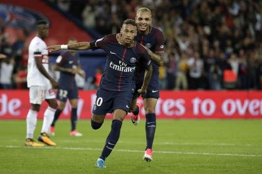 Le Brésilien Neymar, le 20 août, contre Toulouse.