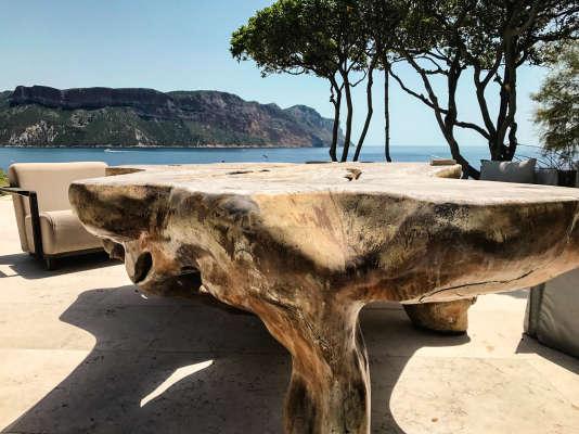 La terrasse du cabanon de Rudy Ricciotti.