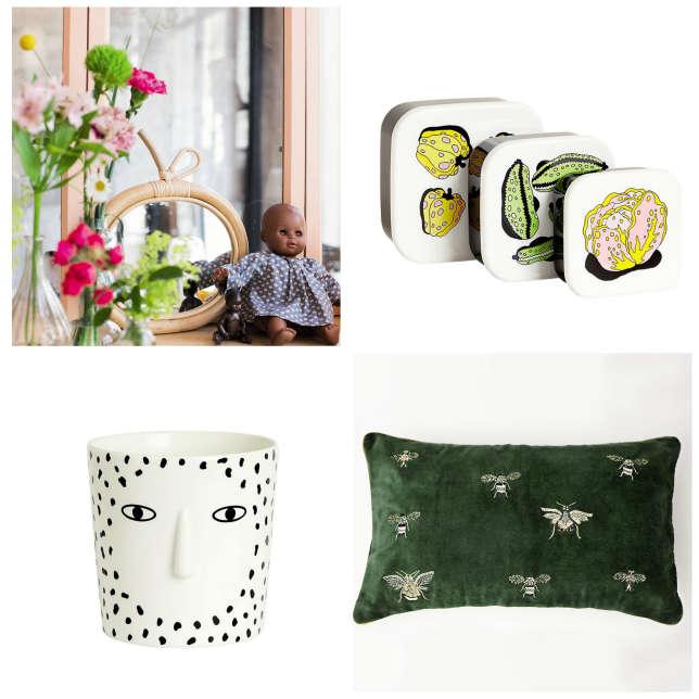 La marque pour enfants Maison Bonton a lancé une ligne pour la maison, tout comme les griffes Monki (lunchbox et mug) et Inouitoosh (coussin).