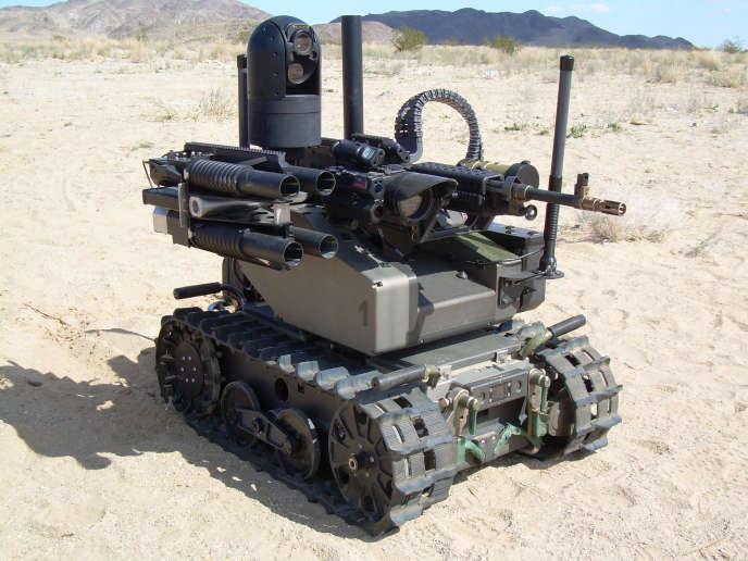Le robot MAARS, de la sociétéQinetiQ, conçu pour des missions de reconnaissance.