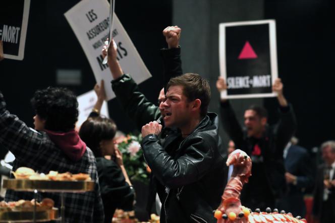 Félix Maritaud joue le rôle de Max, un militant d'Act Up-Paris, dans « 120 battements par minute », de Robin Campillo.