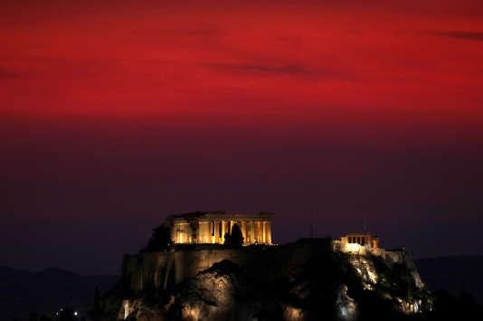 Le Parthénon, sur l'Acropole, à Athènes.