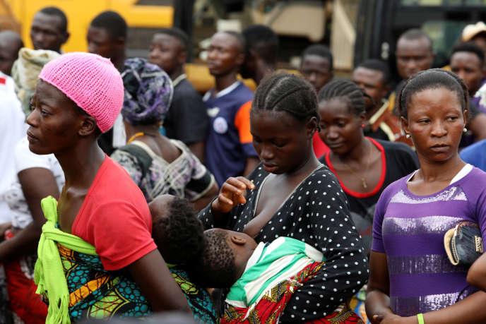 Dans le camp de personnes déplacées de Regent, en Sierra Leone, en août 2017.