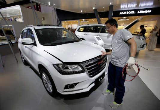 Un automobile de marque Haval du constructeur chinois Great Wall Motors, à Shanghaï, en mai 2016.