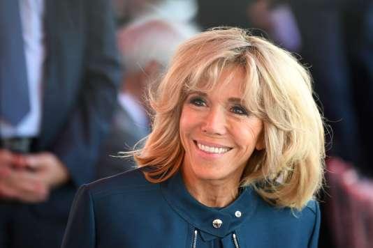 Brigitte Macron, lors du défilé du 14-Juillet.