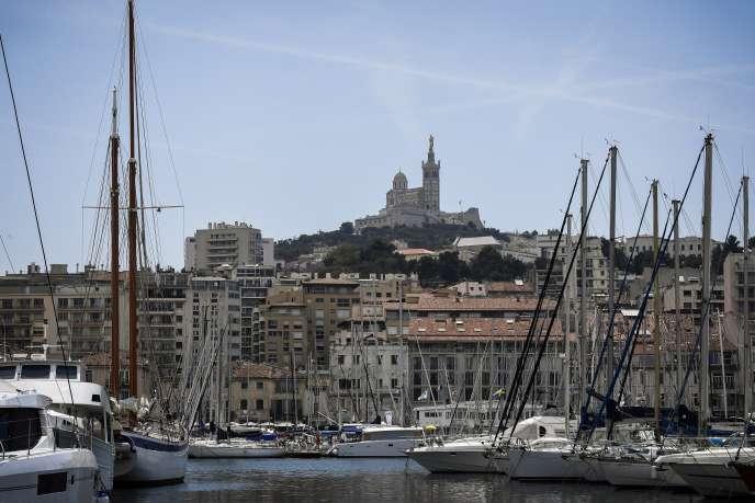 Vue du Vieux-Port à Marseille en juillet 2017.