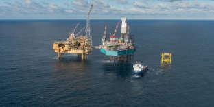 Plate-forme gérée par Total, située sur le champ d'Elgin Franklin, au large de l'Ecosse, en mer du Nord.