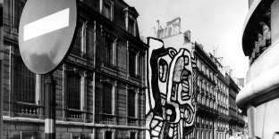 « Elément bleu XI», de Jean Dubuffet, maquette pour un petit hôtel particulier, photomontage, 1967.