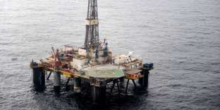 Plate-forme pétrolière Total en mer du Nord, en 2012.