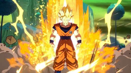 Son Gokû dans «Dragon Ball FighterZ», le jeu vidéo adapté de «DragonBallZ» le plus attendu depuis des années.