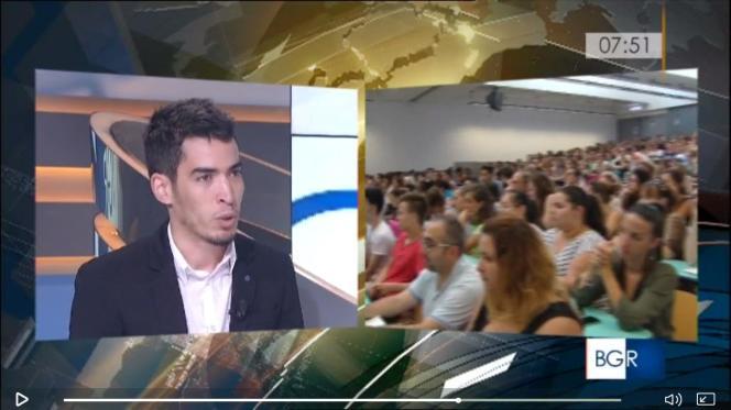 Pendant son séjour, Réda Merida a été invité par la RAI, la première chaîne de télévision publique en Italie, pour parler de sonarticle publié aumois de mars:« La génération Erasmus à la rescousse de l'Europe ?»