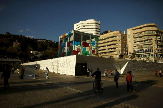La succursale du Centre Pompidou à Malaga, surnommée « El Cubo», la veille de son inauguration, en mars 2015.