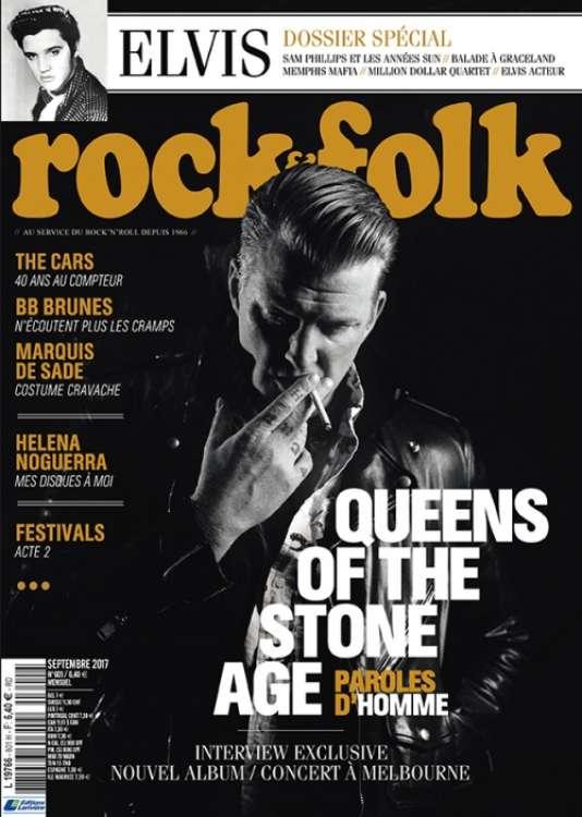 Couverture du n° 601 du mensuel « Rock & Folk», septembre 2017.