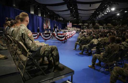 Donald Trump s'exprimait à la base militaire de Fort Myer, non loin de Washington.