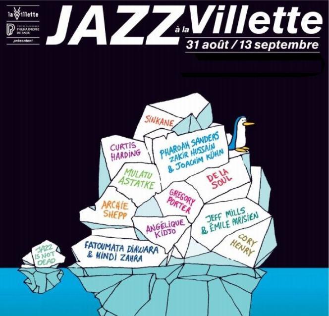 Affiche du festival Jazz à La Villette.