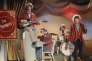 Les Monkees sur le tournage de la série télévisée éponyme, en juin1967, à Los Angeles.